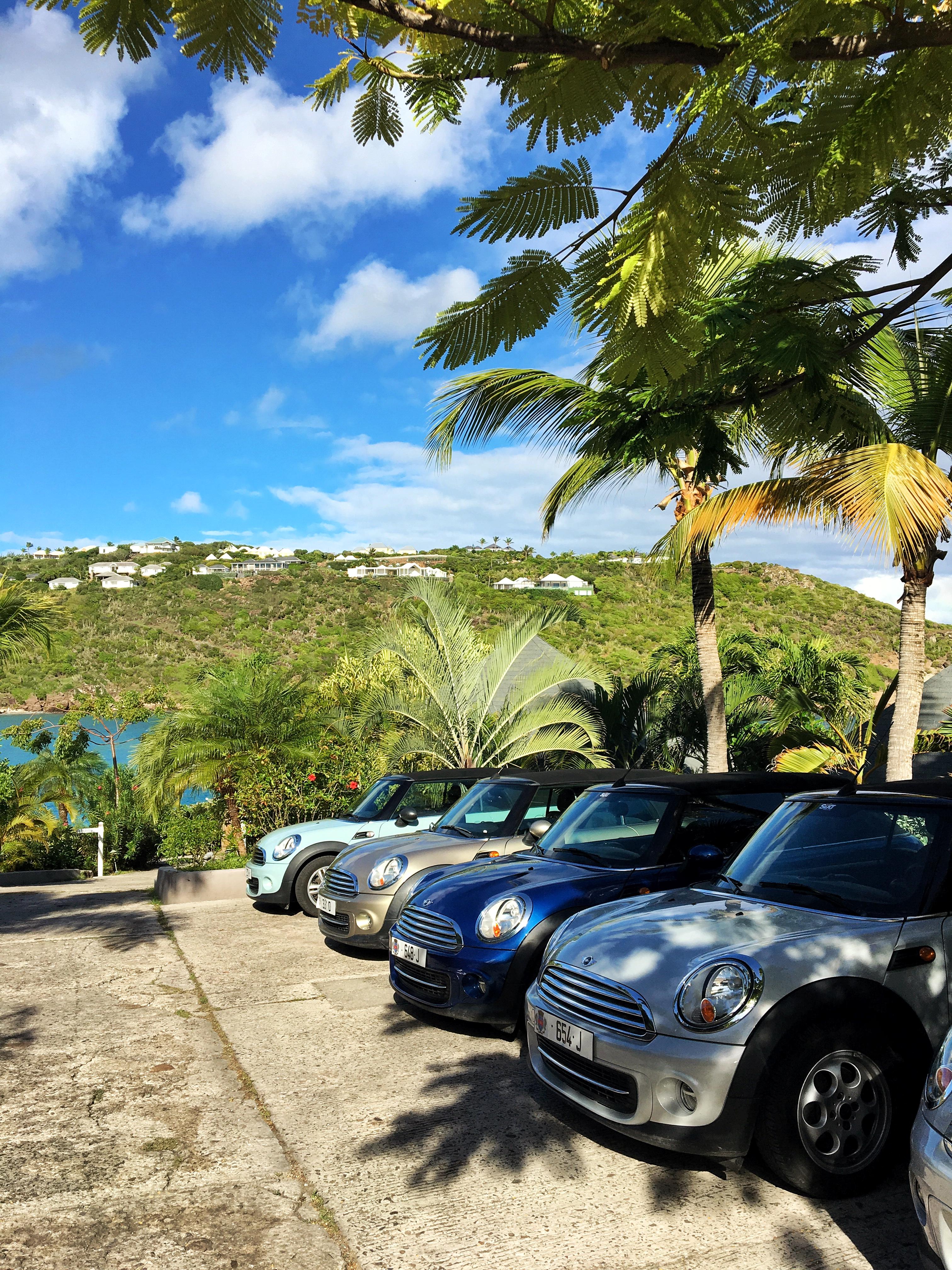O estacionamento do nosso Le Guanahani